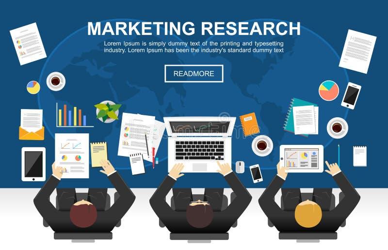 Ilustração do conceito da pesquisa de mercado ilustração royalty free