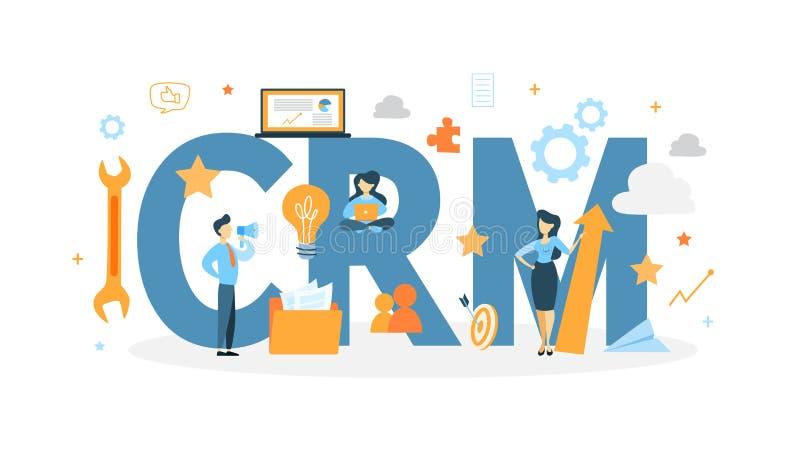 Ilustração do conceito de Crm ilustração stock