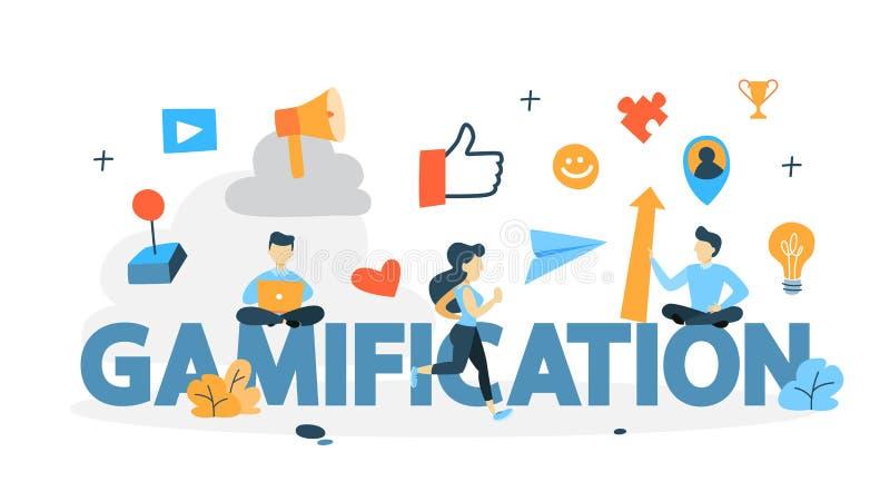Ilustração do conceito de Gamification ilustração do vetor