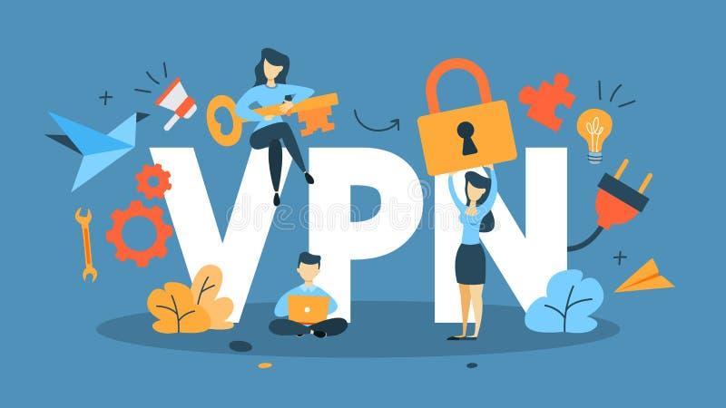 Ilustração do conceito de VPN ilustração royalty free