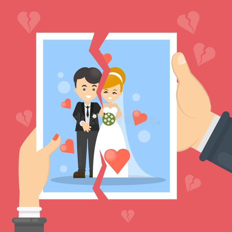 Ilustração do conceito do divórcio ilustração royalty free