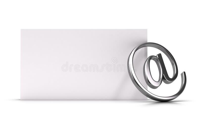 Ilustração do conceito do endereço email ou do contato ilustração do vetor