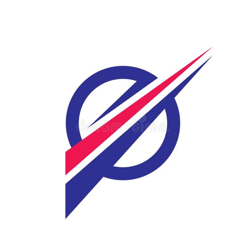 Ilustração do conceito do molde do logotipo do negócio Círculo e formas geométricas Elemento do projeto gráfico Movimento dinâmic ilustração stock