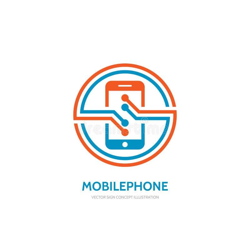 Ilustração do conceito do molde do logotipo do vetor do telefone celular ilustração do vetor