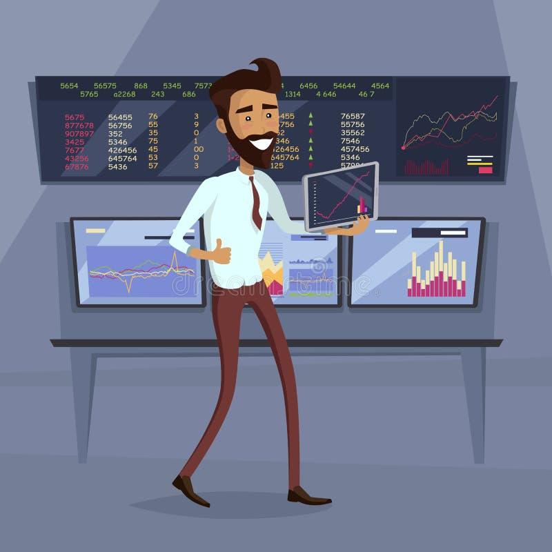 Ilustração do conceito do sucesso do progresso do negócio ilustração stock