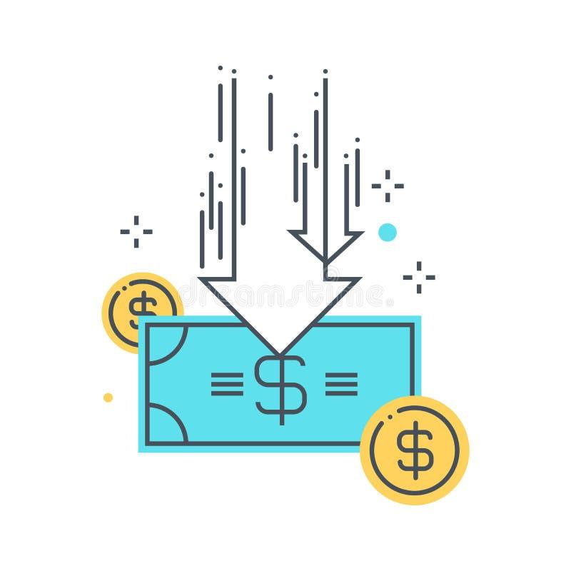 Ilustração do conceito dos cortes no orçamento imagem de stock