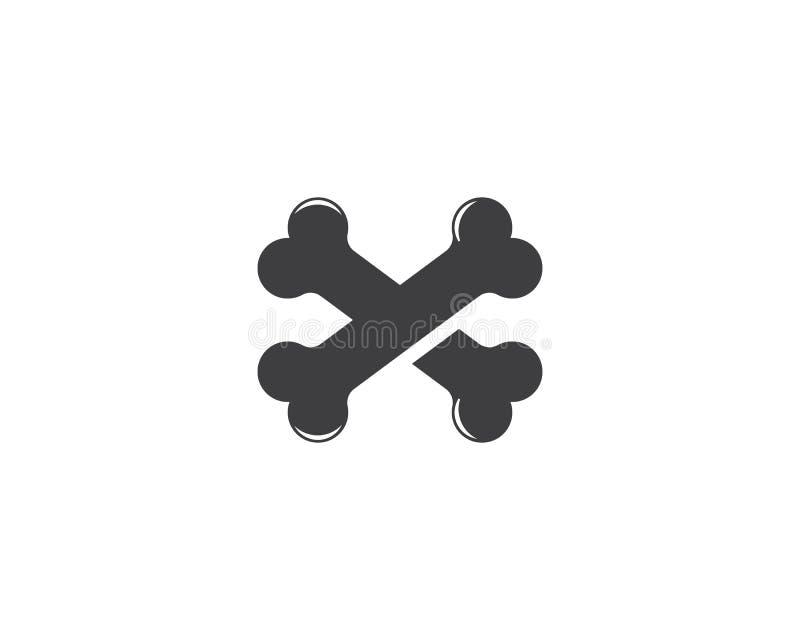 Ilustração do conceito do logotipo do osso ilustração royalty free