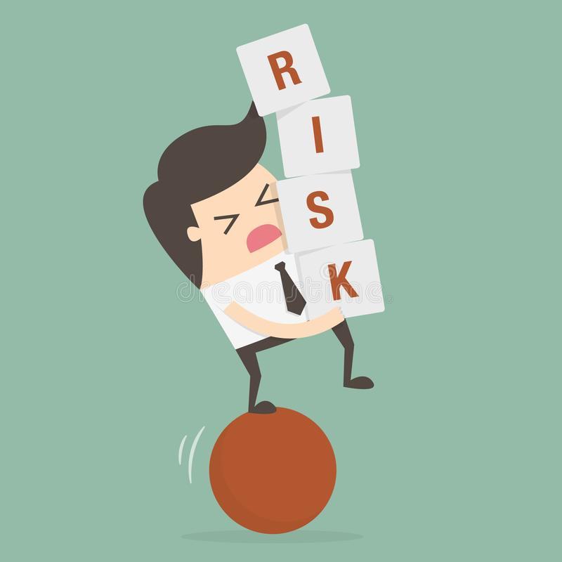 Ilustração do conceito do negócio do risco Conceito da id?ia ilustração royalty free