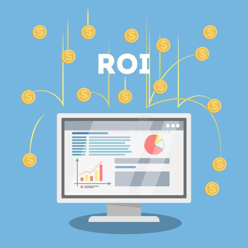 Ilustração do conceito do ROI ilustração royalty free