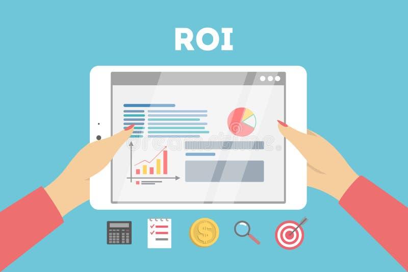 Ilustração do conceito do ROI ilustração stock