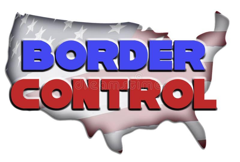 Ilustração do controlo de fronteiras ilustração stock