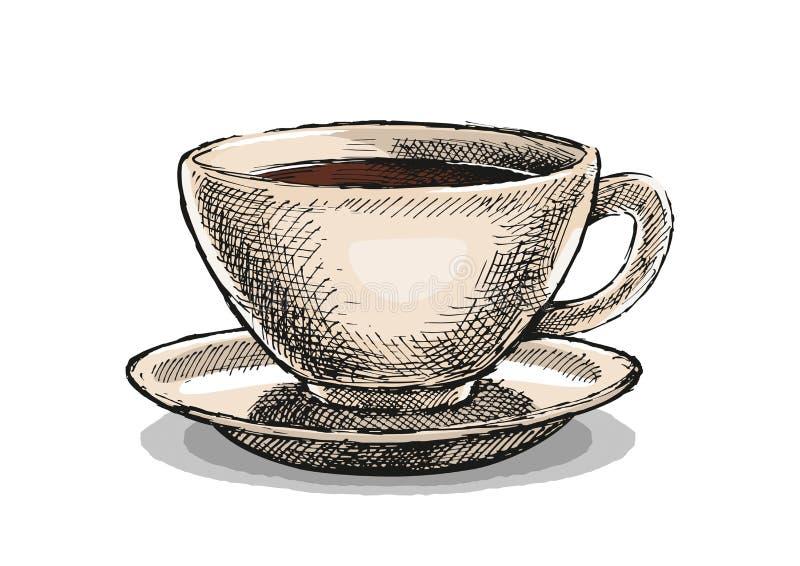 Ilustração do copo de café fotos de stock