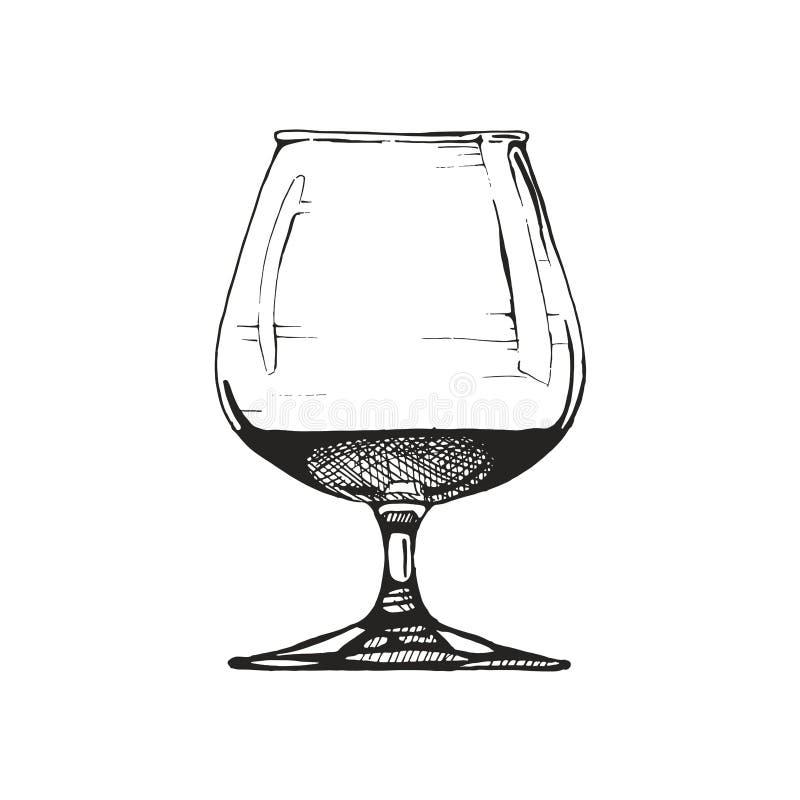 Ilustração do copo de conhaque ilustração do vetor