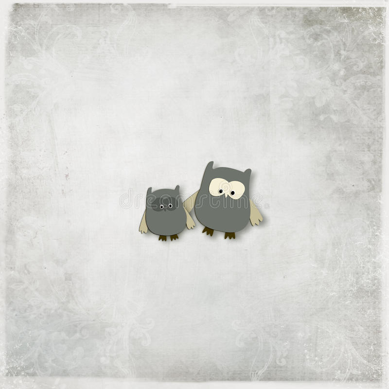 Ilustração do corujas bonitos fotos de stock royalty free