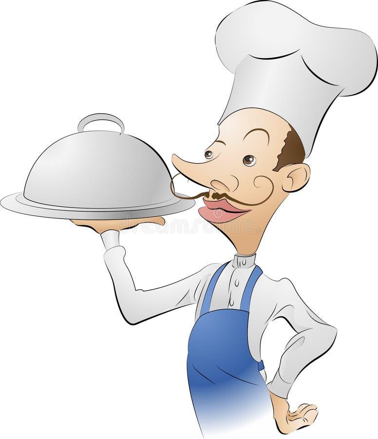 Ilustração do cozinheiro chefe ilustração do vetor