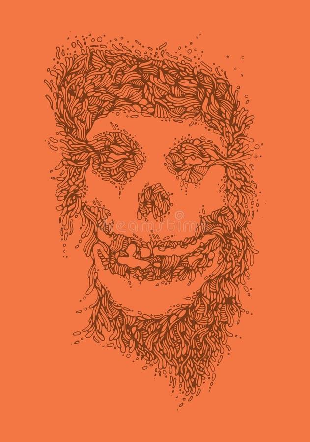 Ilustração do crânio dos desajustes fotografia de stock royalty free