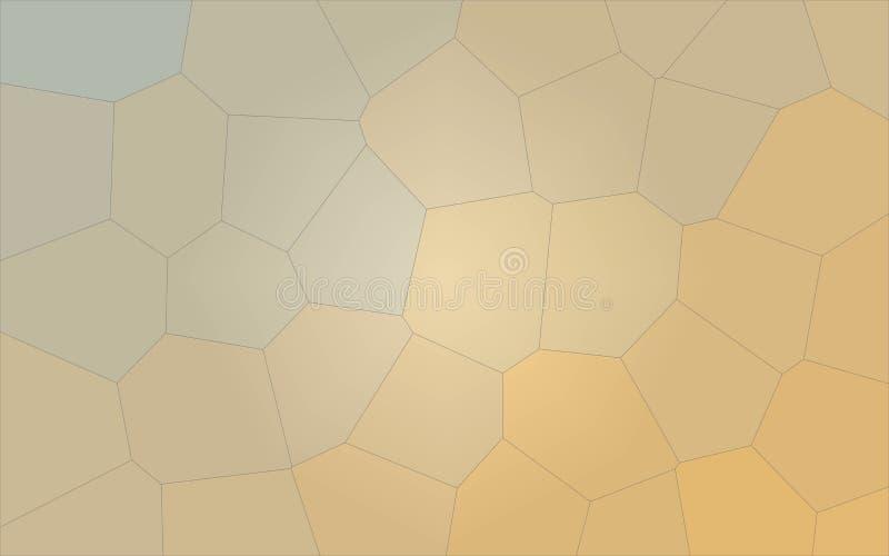 Ilustração do cravo-de-defunto e do fundo gigante amarelo do hexágono ilustração royalty free