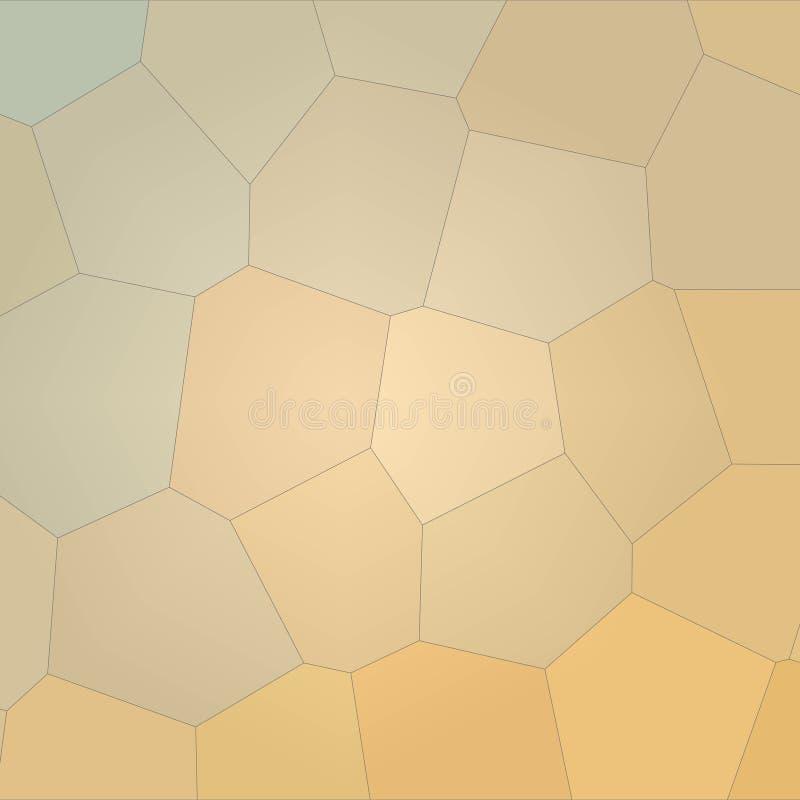 Ilustração do cravo-de-defunto quadrado e do fundo gigante pastel amarelo do hexágono ilustração do vetor