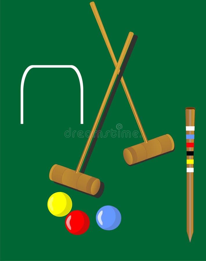 Ilustração Do Croquet Foto de Stock