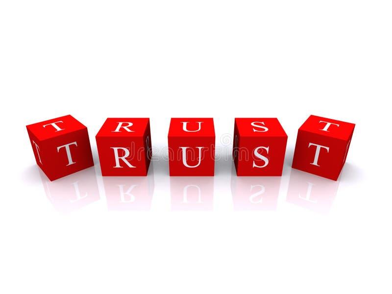 Ilustração do cubo da confiança ilustração royalty free