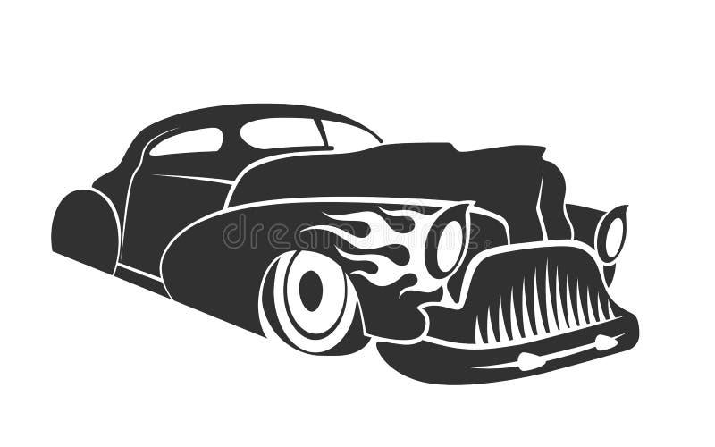 Ilustração do cupê do cavaleiro do hot rod baixa ilustração royalty free