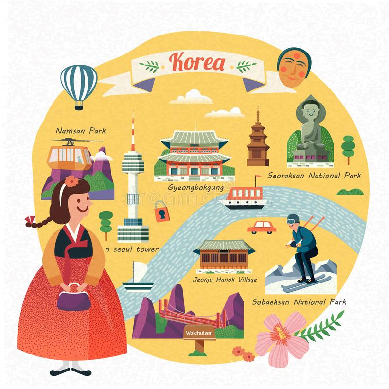 Ilustração do curso de Coreia ilustração royalty free