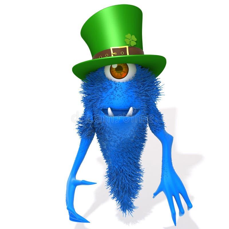 Ilustração do dia 3d do St Patrick's do monstro ilustração stock