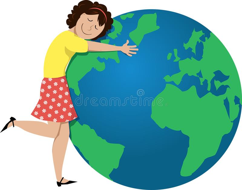 Ilustração do Dia da Terra ilustração royalty free