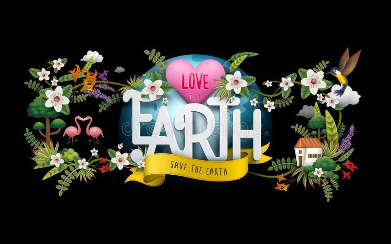 Ilustração do Dia da Terra ilustração do vetor