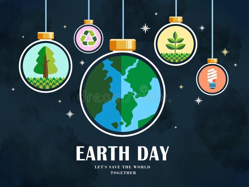 Ilustração do Dia da Terra ilustração stock