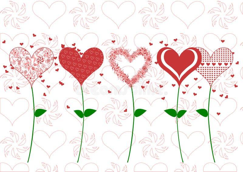 Ilustração do dia de Valentim fotografia de stock royalty free