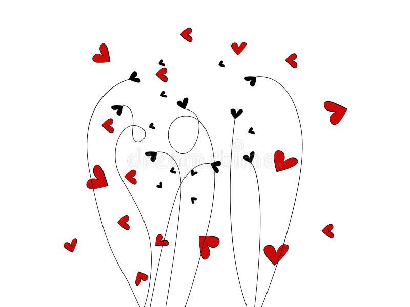 Ilustração do dia do Valentim bonito ilustração royalty free