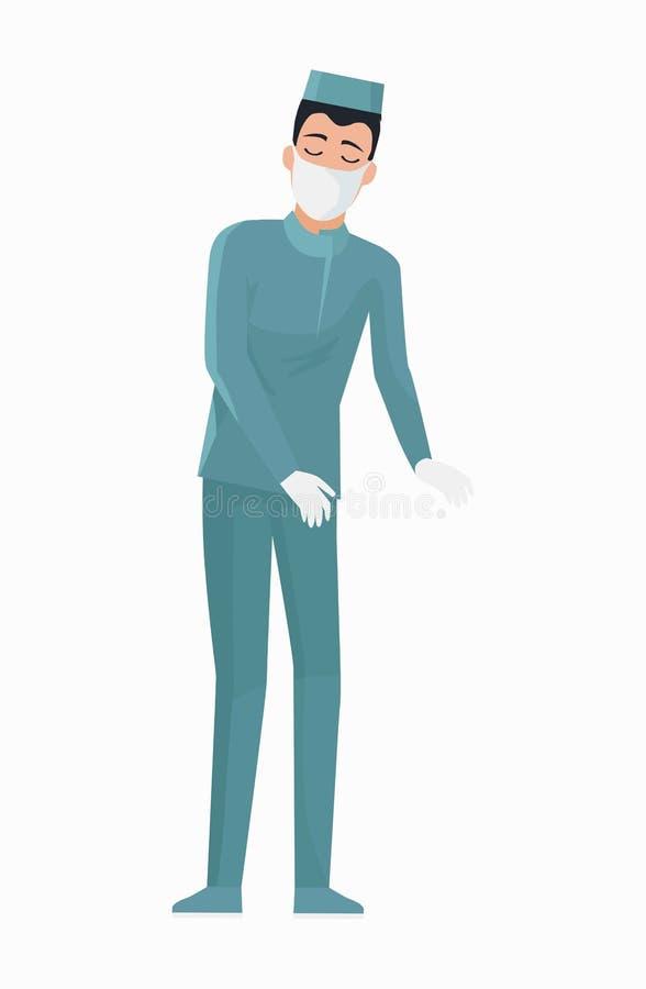 Ilustração do doutor Conducting Surgery Vetora ilustração do vetor