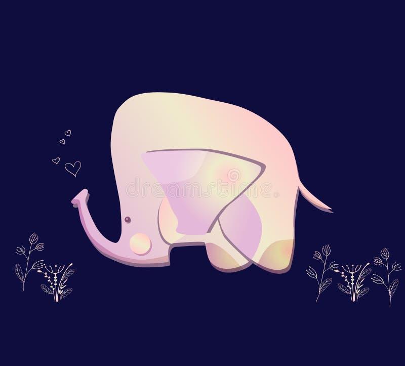 Ilustração do elefante para a cópia das crianças imagem de stock