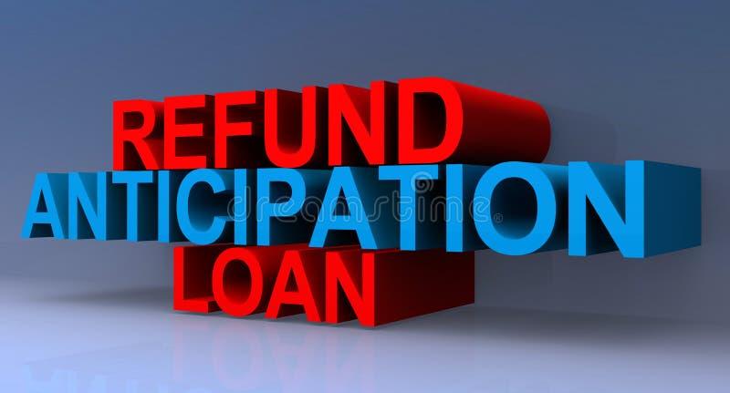 Ilustração do empréstimo da antecipação do reembolso ilustração do vetor