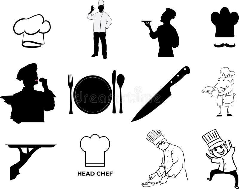Ilustração do eps do vetor do cozinheiro chefe por crafteroks ilustração stock