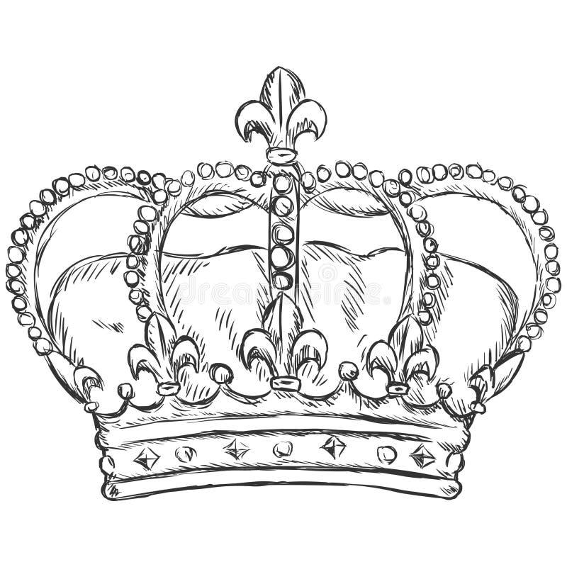 Ilustração do esboço do vetor - coroa real ilustração royalty free