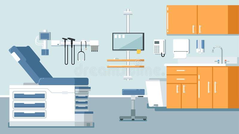 Ilustração do escritório do doutor s ilustração do vetor