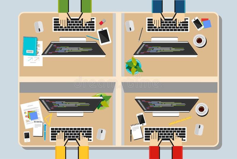 Ilustração do espaço de trabalho ilustração royalty free