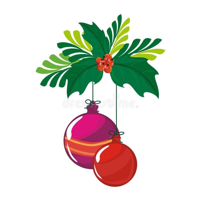 Ilustração do Feliz Natal da festão ilustração royalty free