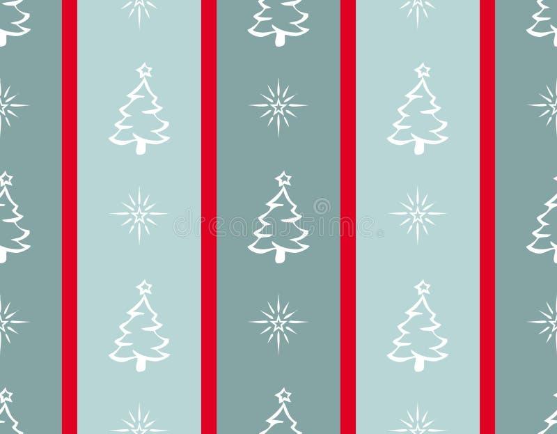 Ilustração do Feliz Natal em fundo listrado ilustração stock