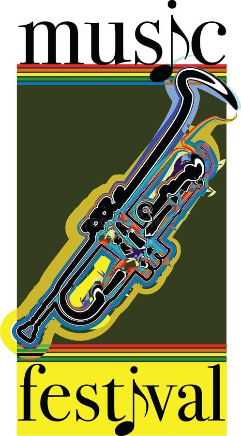 Ilustração do festival de música. ilustração royalty free
