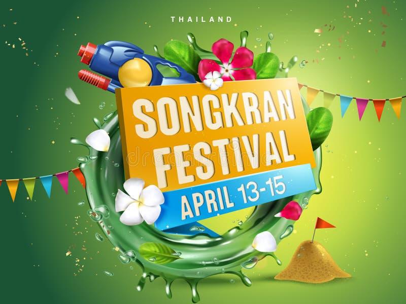 Ilustração do festival de Songkran ilustração do vetor