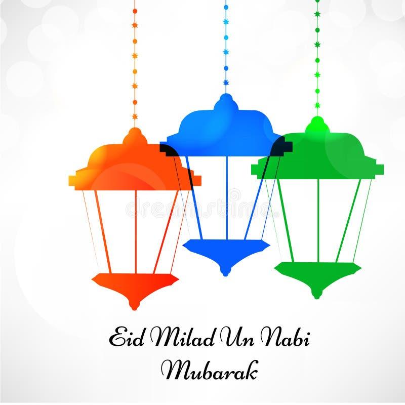Ilustração do festival muçulmano Eid Background ilustração do vetor