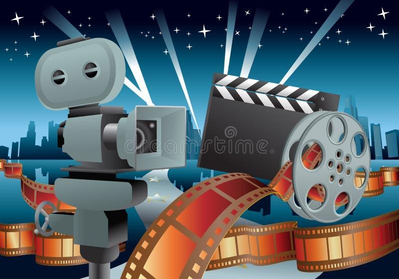 Ilustração do filme ilustração royalty free
