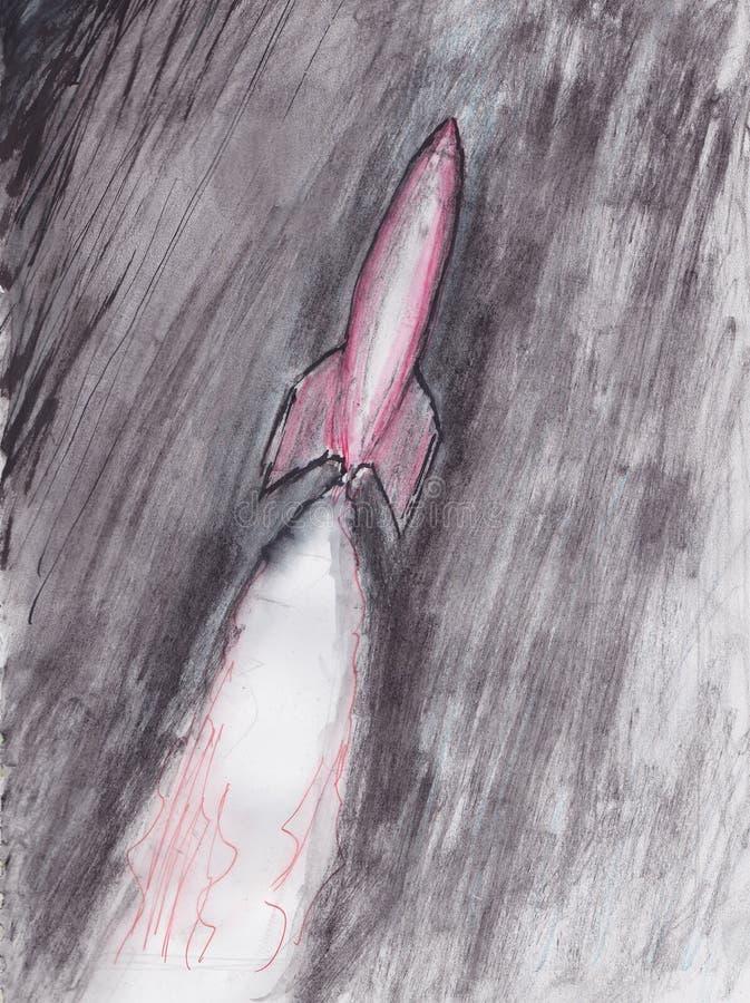 Ilustração do foguete poderoso ilustração do vetor