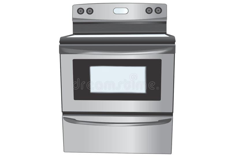 Ilustração do forno do aço inoxidável ilustração stock