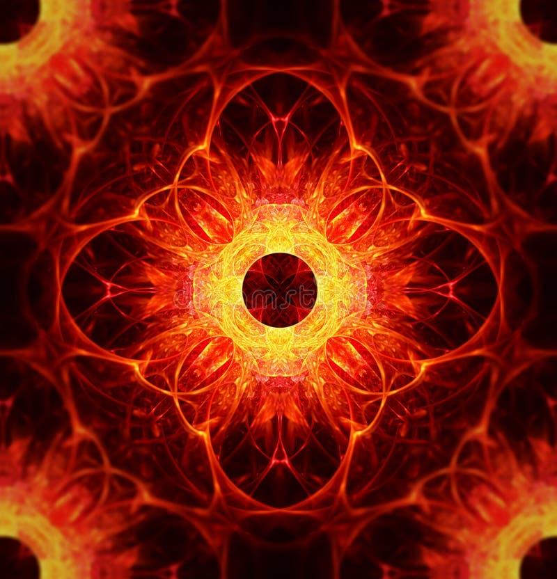 Ilustração do fractal do incêndio ilustração royalty free