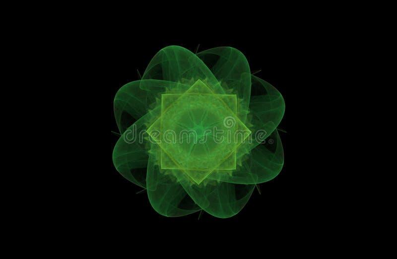 Ilustração do Fractal do objeto verde foto de stock royalty free