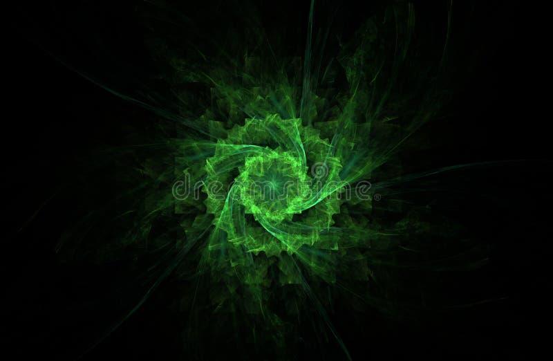 Ilustração do Fractal do objeto verde imagem de stock